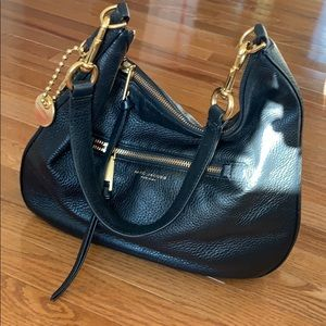 Marc Jacobs New York black hobo shoulder bag.